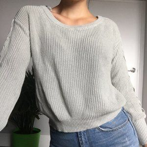 Garage mint green knit sweater (XS)
